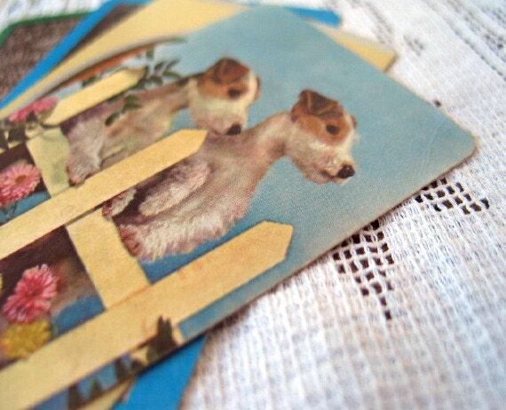 Vintage Dogs Playing Cards