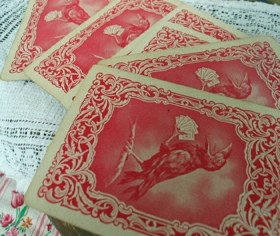 Antique Creepy Playing Cards