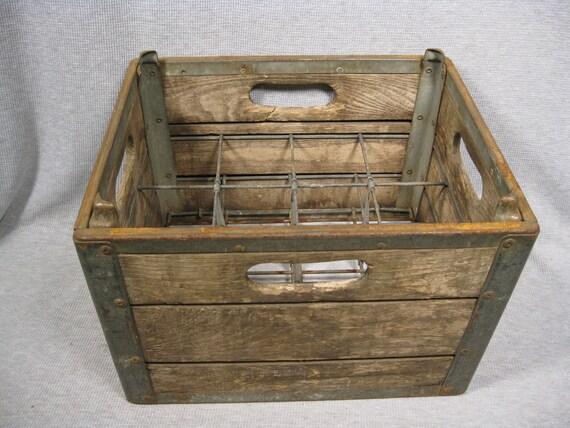 Milk Bottle Crate DeCiantis Bros., West Warwick Rhode Island Vintage Stack-able