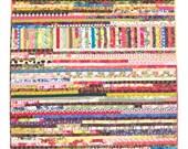 "Boho Scrap Quilt, Wall Quilt, Wall Hanging, Improvisational Quilt, Lap Quilt, Quiltsy, 44"" x 57"" - KarenGriskaQuilts"