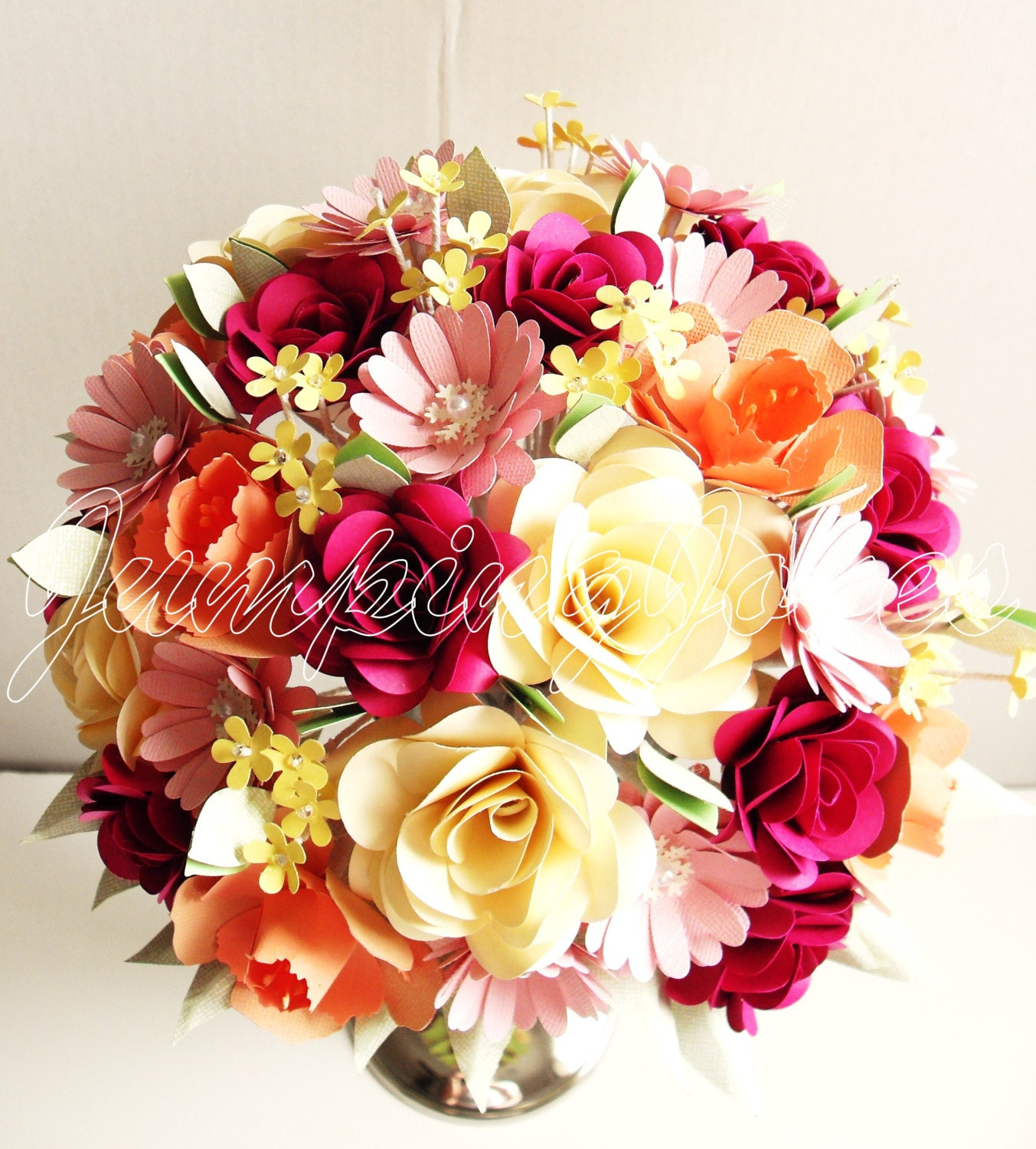 Traditional paper flower bouquet for Picture of flower bouquet