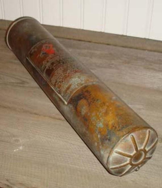 Vintage 1924 Brass Fire Extinguisher