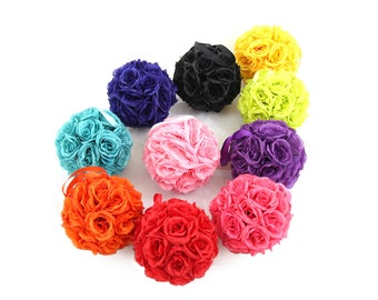 "8"" Silk Rose Kissing Pomander Balls for Wedding Reception Decor and Party Decorations"