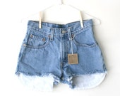 "Waist 28"" High Waisted Vintage Levi Shorts"