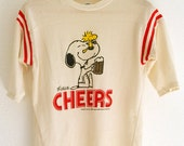 Vintage 80s Peanuts Snoopy and Woodstock Cheers t-shirt - BraveNewVintage