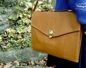 Two Way Bag Envelope Clutch - Light Brown