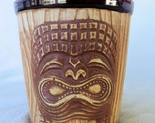 Tiki Bucket Mug from The Islands, Phoenix AZ, Vintage, 3 Face