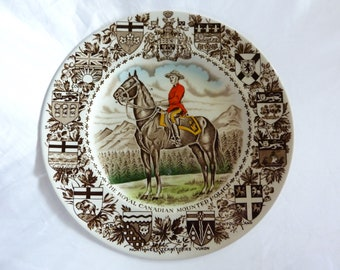 Royal Canadian Mounted Police Plate by Wood & Sons, England