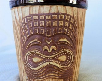 Tiki Bucket Mug from The Islands, Phoenix AZ, Vintage, 3 Face