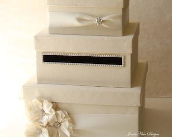 Wedding Card Box, Money Box, Gift Card Holder - choose your box & flower colors