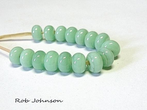 Summer Jade Lampwork Glass Spacer Beads