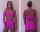 Retro Bikini with high waisted bottoms