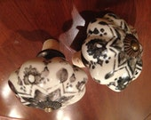 Vintage Style Painted Porcelain Knob Wine Stopper