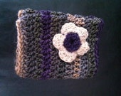 Cowl with flower embellishments