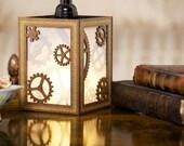 Steampunk Hanging Lamp - gear design