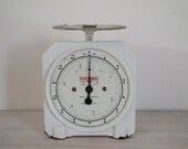reserved for jillian - vintage persinware white kitchen scales