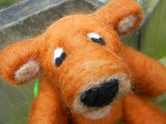 Needle Felted Teddy Bear, Needle Felted Animal, Jointed Bear, Ready To Ship
