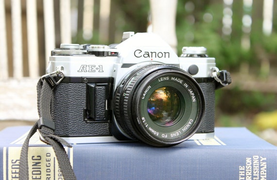 Vintage Canon AE 1 35 mm camera