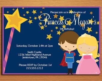 Sleeping Beauty / Princess Aurora Birthday Party Invitation Cards PRINTABLE DIY