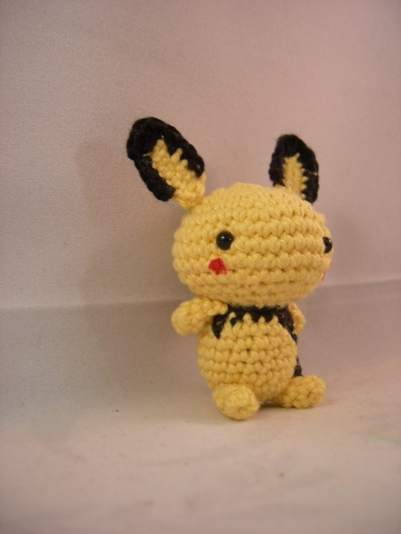 Amigurumi Sad Pokemon : Items similar to Pichu - pokemon crochet amigurumi on Etsy