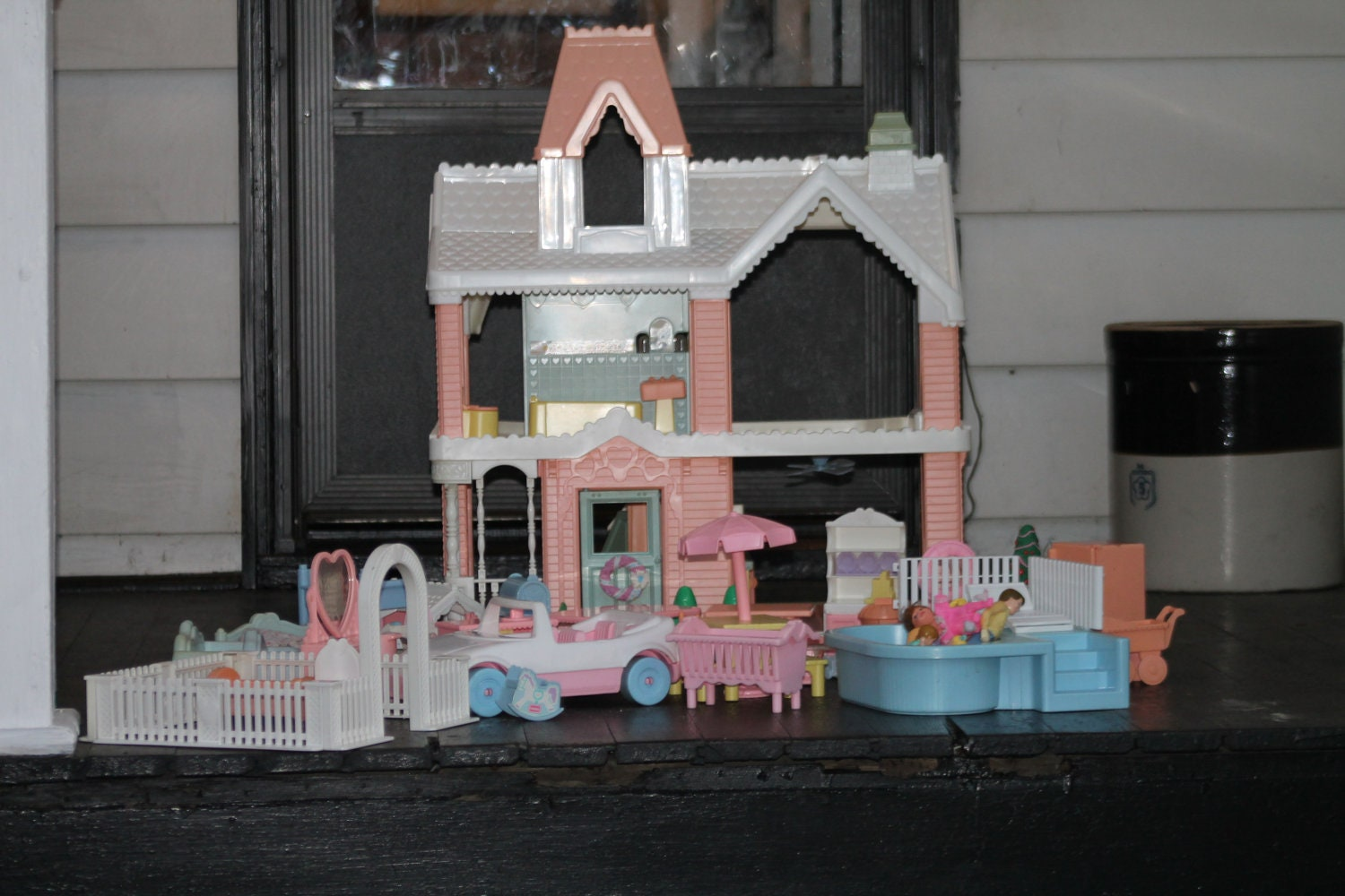 Playskool Victorian Doll House 1991 With By Toolshedantiques