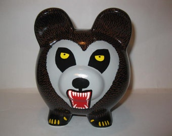 Piggy Bank, Made To Order -  Handpainted, Personalized -Werewolf Piggy Bank