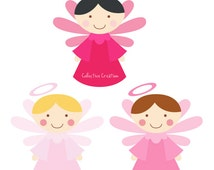 Little Angels Digital Clipart Version 2 - Clip Art for Commercial and Personal Use