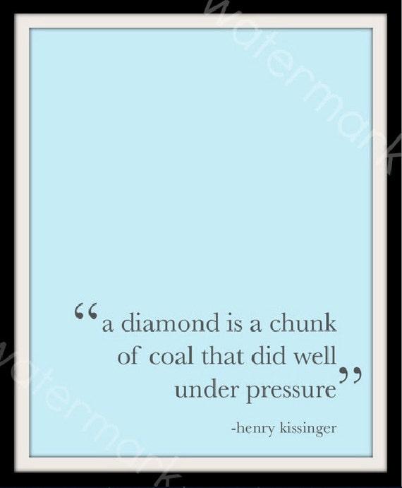 Pressure Makes Diamond: Items Similar To Diamond Under Pressure