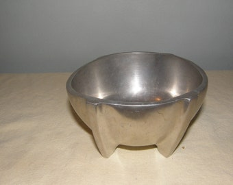 Footed Metal Bowl by Unknown Maker
