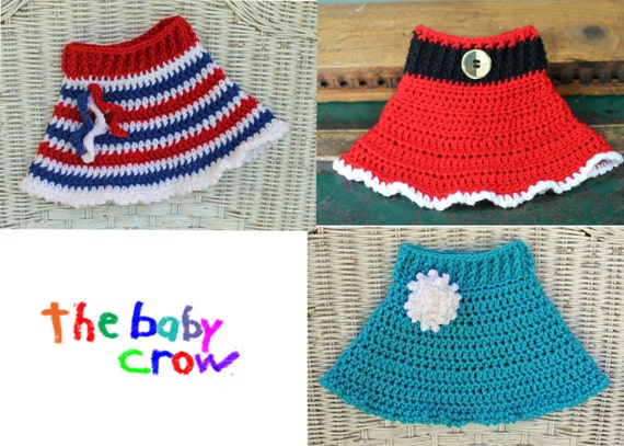 Crochet Skirt Pattern : ... DOWNLOAD - Versatile Crochet Baby Skirt Pattern - 3 Patterns in One