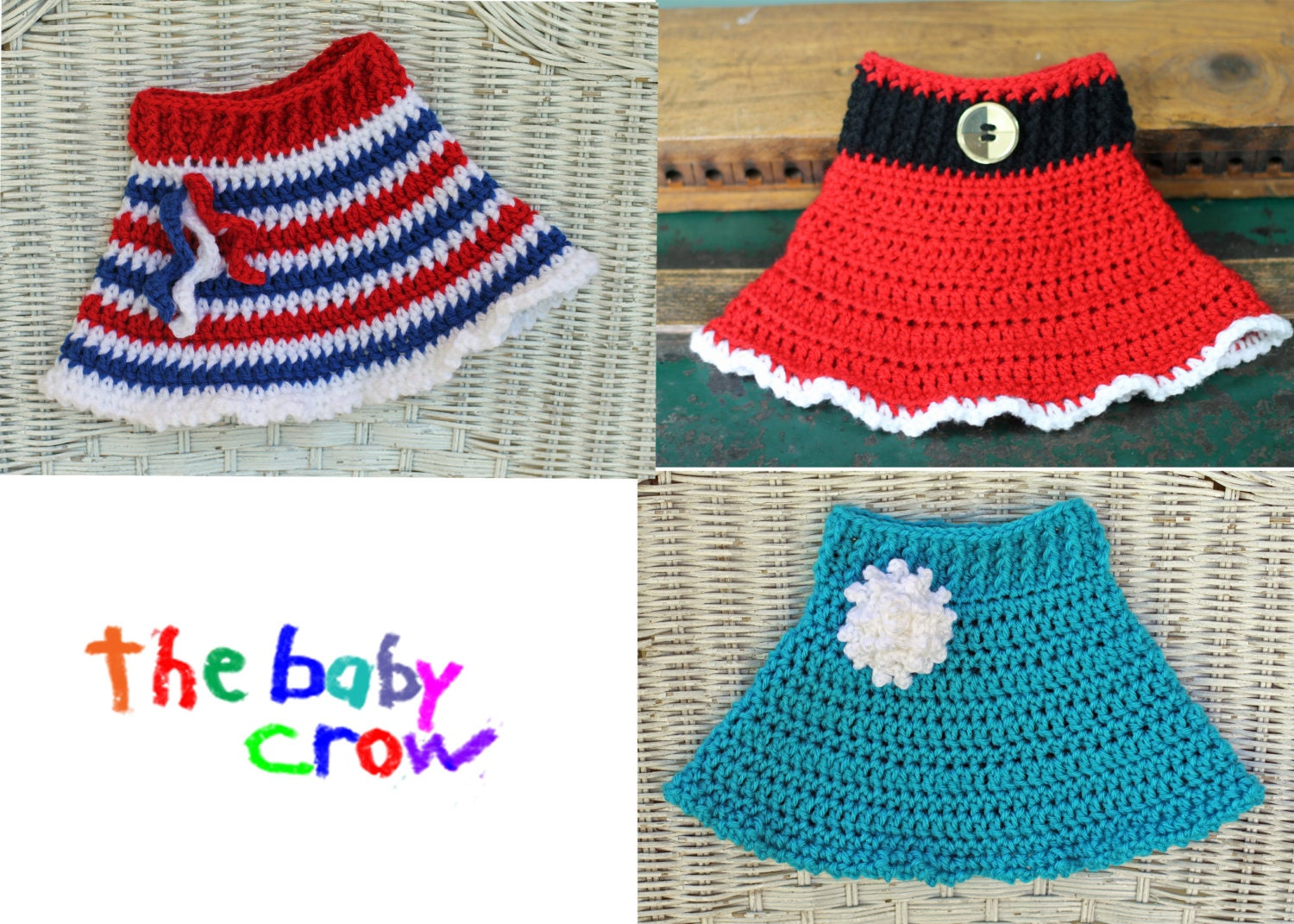Free Crochet Patterns Baby Shower Favors : INSTANT DOWNLOAD Versatile Crochet Baby Skirt Pattern 3