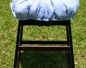 Cart Cover- Blue and White Gingham