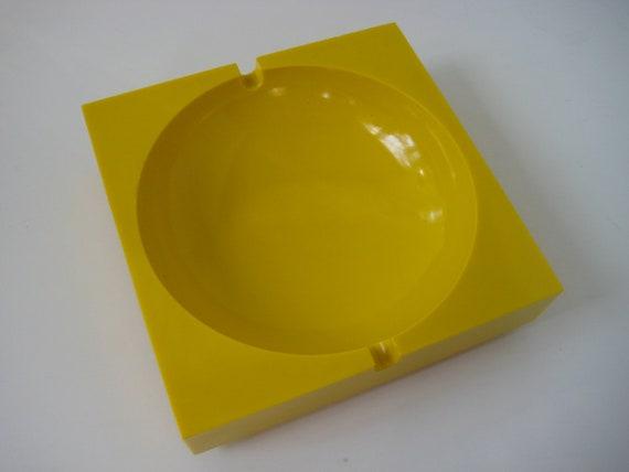 Mod Yellow Ashtray