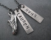 TRACK RUNNING Necklace - Personalized Custom High School Running Necklace - Track Necklace - Your Name - Your School - Track Team Banquet