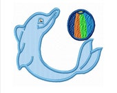 APPLIQUE DOLPHIN Machine Embroidery Design....2 Sizes