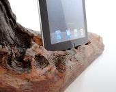 iPad mini dock  / iPad 4 dock / iPad 3 dock / iPad 2 dock / iPad 1 dock   - wooden sculpture - unique gift