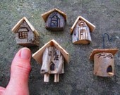 Made to Order 5 Piece Miniature Fairy Garden Village Ornaments Container Garden Cottages