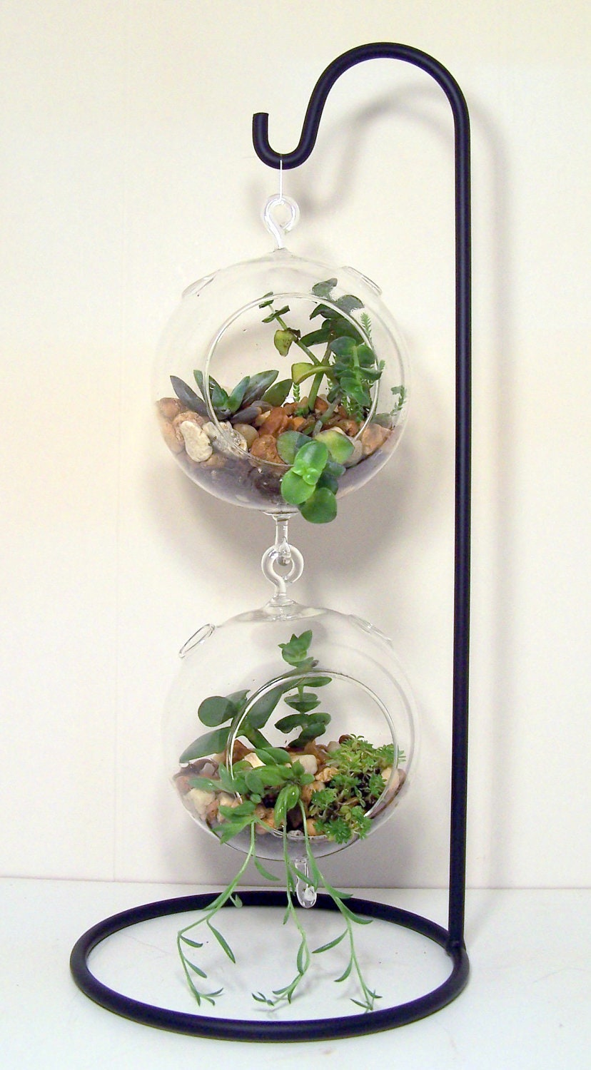 Large Hanging Glass Terrarium Stand Or Ornament Holder Made Of