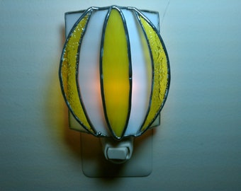 Yellow Night Light- Stained Glass