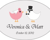 Personalized Wedding Stickers - 100 3x2 Oval Wedding Favor / Welcome Bag Labels - Compare and Save