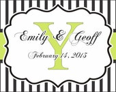 """Wedding Stickers 4"""" x 2"""" - 100 Printed Welcome Bag Labels"""