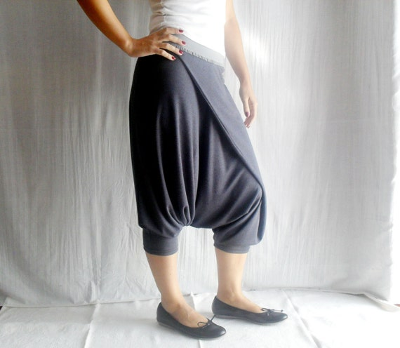 Boho harem pants in charcoal - grey pants boho pants harem trousers for women