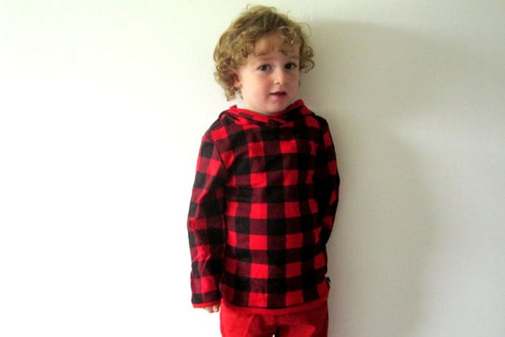 Kids sale clothing skater jumper red Christmas sweater black chekered tartan funky hoodie top toddler long sleeve