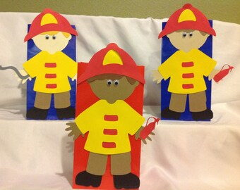 Fireman Birthday Goody Bags