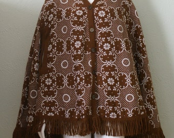 VTG 70's Selecta Poncho  Fits Size Small-Medium-Large