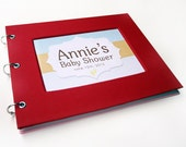 Baby Shower Guest Book - Apple Red