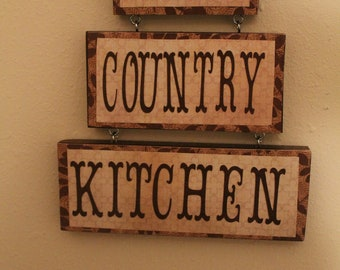 Country Kitchen Sign My Decor Cottage Chic