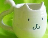 Gloss White Kitty Mug