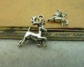 20 pcs 22x17x6mm Antique Silver Lovely 3D Christmas Deers Charms Pendants fc90034