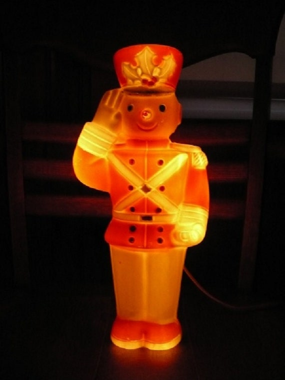 Vintage Blow Mold Lighted Toy Soldier Christmas Holiday
